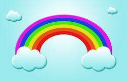 Rainbow and cloudy Stock Photo