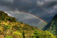 Rainbow on cloudy sky , Sikkim Stock Photos