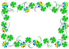 Rainbow clover Royalty Free Stock Photo
