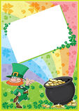 Rainbow clover card Royalty Free Stock Photography