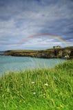 Rainbow on the coast Royalty Free Stock Photography