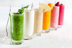 Rainbow cocktails Stock Image