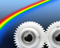 Rainbow cogs Stock Images