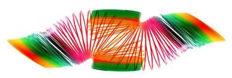 Rainbow Coil Spring Toy Stock Photos