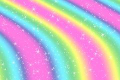 Rainbow color abstract background with soft light stars presented background of dream concept on sweet content. The rainbow color. Spread direction all around royalty free illustration