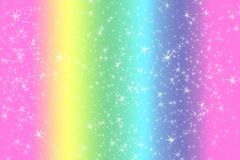 Rainbow color abstract background with soft light stars presented background of dream concept on sweet content. The rainbow color. Spread direction all around vector illustration