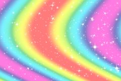 Rainbow color abstract background with soft light stars presented background of dream concept on sweet content. The rainbow color. Spread direction all around stock images