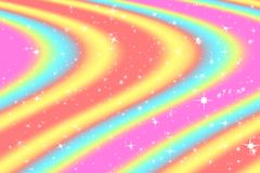 Rainbow color abstract background with soft light stars presented background of dream concept on sweet content. The rainbow color. Spread direction all around royalty free stock photo