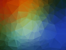 Rainbow color abstract polygonal Geometric Stock Photo
