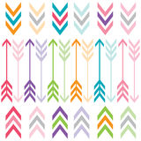Rainbow Color Arrows Set Stock Images