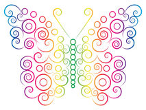 Rainbow color butterfly Stock Photo