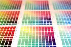 Rainbow color chart stock photo