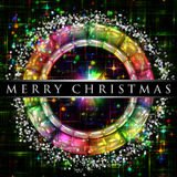 Rainbow color Christmas design Stock Photo