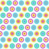 Rainbow Color Circle Pattern Seamless royalty free illustration