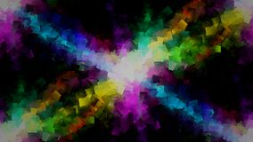 Colorful cubes explosion background stock illustration