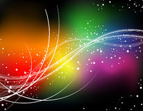 Rainbow color curve Stock Image