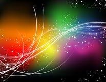 Rainbow color curve Stock Image
