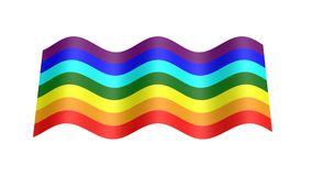 Rainbow color flag 3d animation stock footage