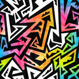 Rainbow color geometric seamless pattern Stock Images
