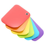 Rainbow color glossy palette isolated Royalty Free Stock Image