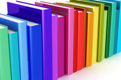 Rainbow color hardcover books Stock Image