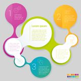 Rainbow color infographics vector illustration
