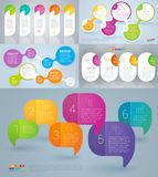 Rainbow color infographics stock images