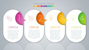 Step by step vector template royalty free illustration