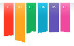 Rainbow color labels Stock Images