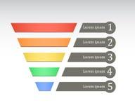 Rainbow color marketing funnel. Vector illustration on white background stock illustration