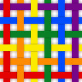 Rainbow color mat. Stock Photo