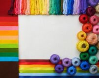 Rainbow color materials for art creation