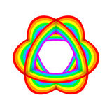 Rainbow color object abstract decorative art Royalty Free Stock Images