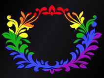 Rainbow color ornamental crest Royalty Free Stock Image