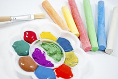 Rainbow color palette. Stock Photos