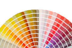 Rainbow color palette stock images