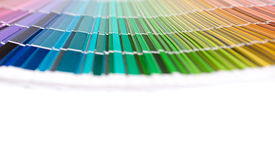 Rainbow color palette stock photos