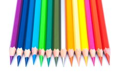 Rainbow color pencils Royalty Free Stock Images