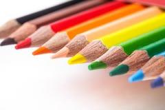Rainbow color pencils Royalty Free Stock Image