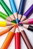 Rainbow color pencils Stock Photography