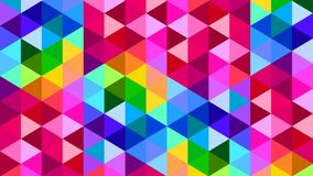 Rainbow Color Polygonal Triangle Background Pattern Design