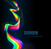 Rainbow Color Ribbon Background Royalty Free Stock Photos