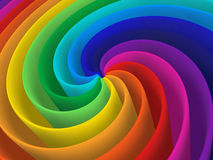 Rainbow color spiral structure Stock Photography