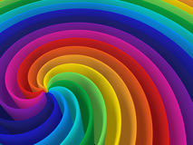 Rainbow color spiral structure Royalty Free Stock Photo