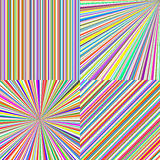 Rainbow color stripes. Line art vector abstract Stock Photo