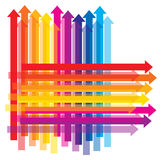 Rainbow color upwards arrow Stock Photography