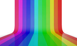 Rainbow color wall 2 Stock Image