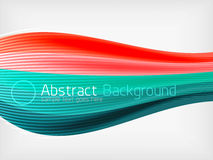 Rainbow color wave abstraction design template Royalty Free Stock Photos