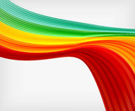 Rainbow color wave abstraction design template Stock Image