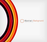 Rainbow color wave abstraction design template Royalty Free Stock Photo